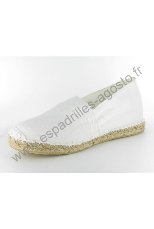 Espadrille Uni Blanc